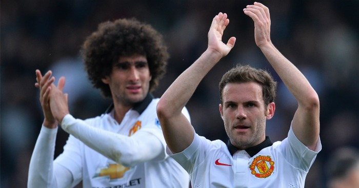 Marouane Fellaini and Juan Mata: Could leave Man Utd if Jose Mourinho gets job