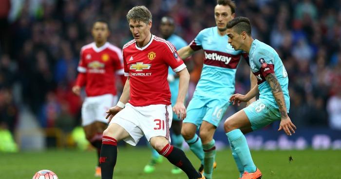 Bastian Schweinsteiger: Impressed as substitute against West Ham