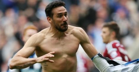 Jonas Gutierrez: In happier times at Newcastle