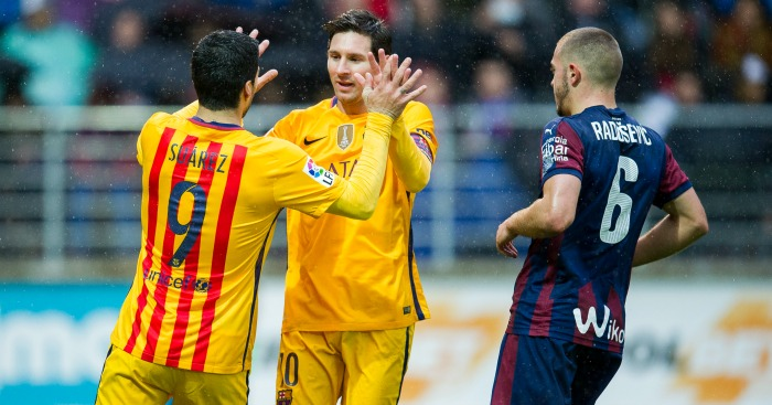 Luis Suarez and Lionel Messi: Both scored in Barcelona win