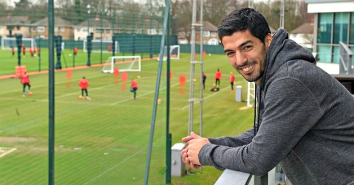 Luis Suarez: Dropped in to visit Liverpool