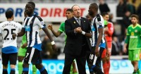 Rafael Benitez: Congratulates his players at full time