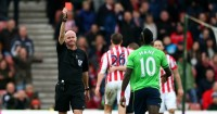 Sadio Mane: Given straight red card against Stoke