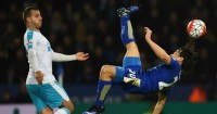 Shinji Okazaki: Scored stunning overhead goal for Leicester