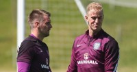 Tom Heaton (left): Replaced Joe Hart in England squad