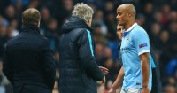 Vincent Kompany: Limps off injured