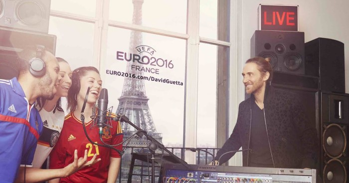 David Guetta: Is making the official song for the Euros.