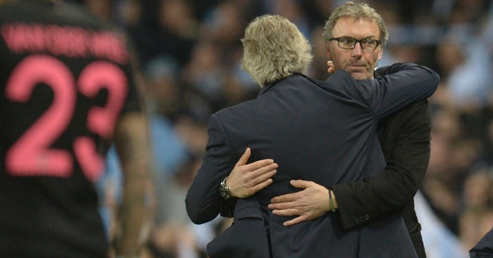 Laurent Blanc: Saw his side limp out