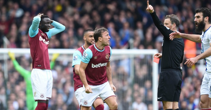 Cheikhou Kouyate: saw red against Palace