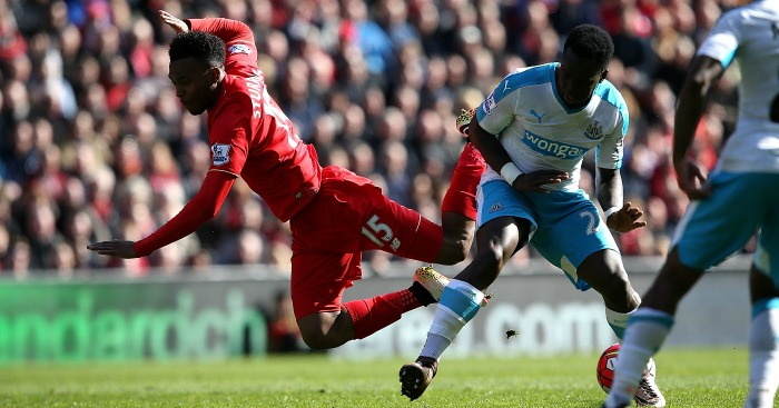 Daniel Sturridge: No penalty after challenge from Cheick Tiote