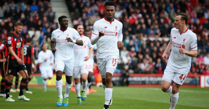 Daniel Sturridge: Striker celebrates Liverpool's second
