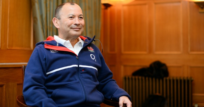 Eddie Jones: Gave motivational talk to Crystal Palace players