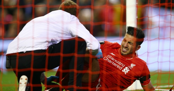 Emre Can: Injured his ankle