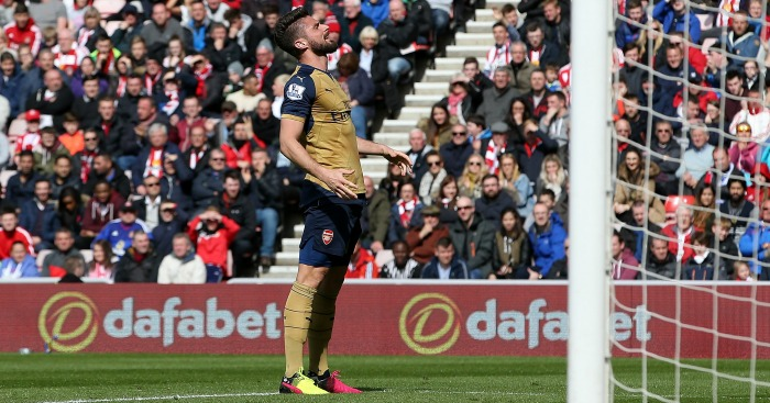 Olivier Giroud: Drew a blank on Wearside