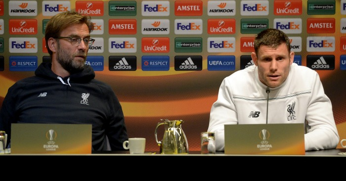 James Milner: Says Liverpool v Dortmund could be a Champions League tie