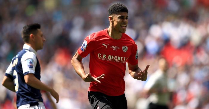 Ashley Fletcher: Celebrates scoring Barnsley's opener against Millwall