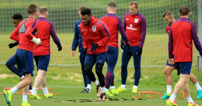 Daniel Sturridge: Is put through his paces by England on Monday