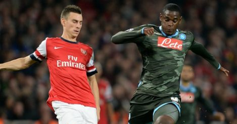 Duvan Zapata: In action against Arsenal in 2013