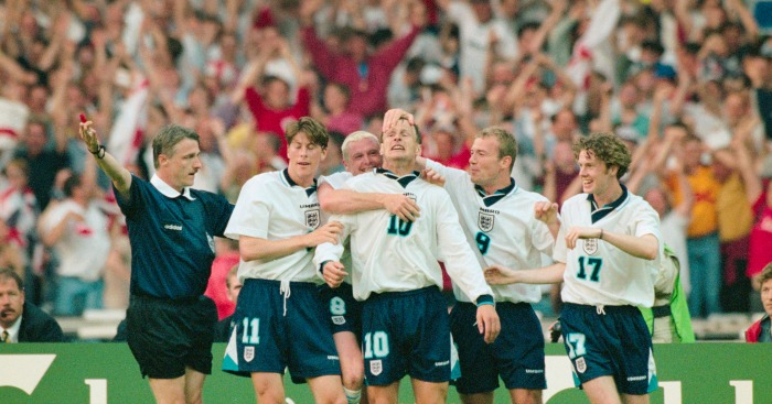 England's drubbing of Holland in 1996 cracks top 10
