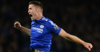 Gary Cahill: Celebrates his goal for Chelsea