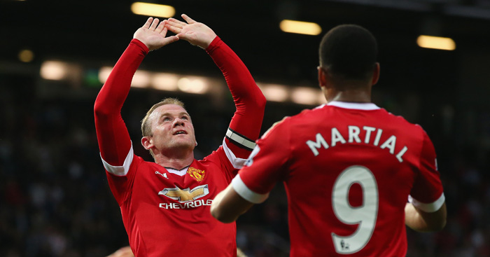 Wayne Rooney: Celebrates fine Man Utd opener