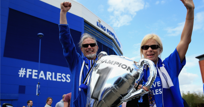 Leicester fans: Celebrate their title win