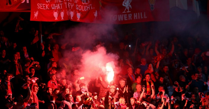 Liverpool fans: Club punished after fireworks lit