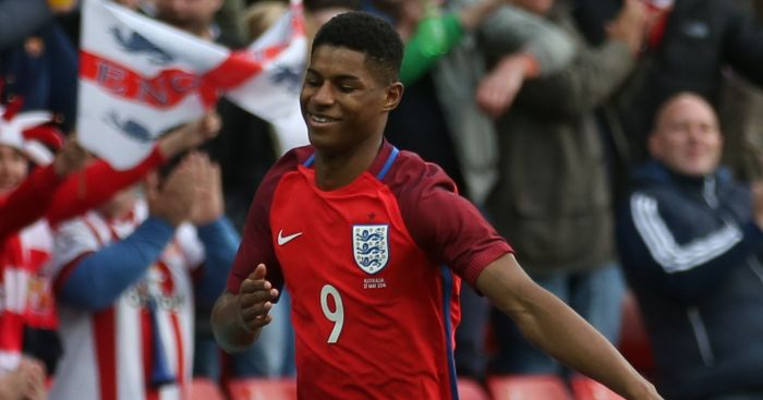 Marcus Rashford: Became youngest England player to score on debut