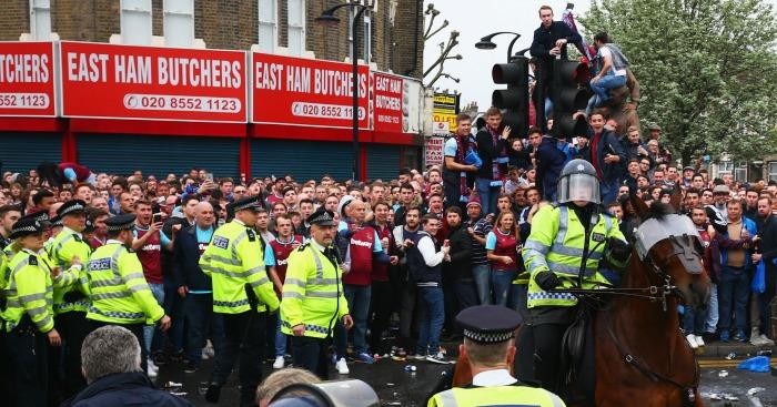West Ham: Trouble outside Upton Park