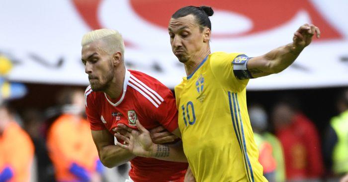 Aaron Ramsey: In action against Zlatan Ibrahimovic