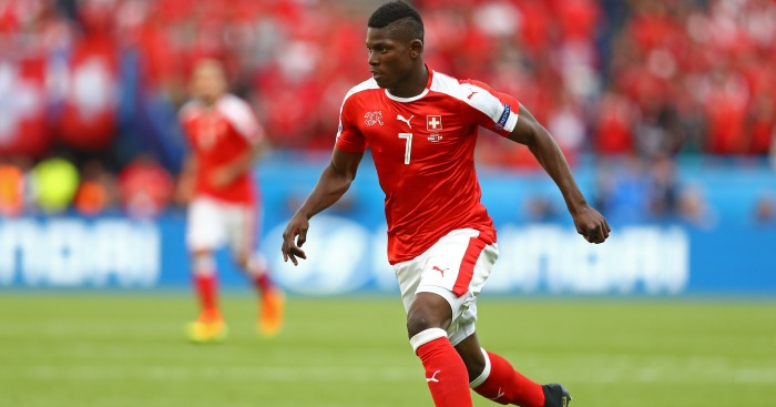 Breel Embolo: Striker in action for Switzerland at Euro 2016