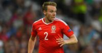 Chris Gunter: Defender was part of celebrations