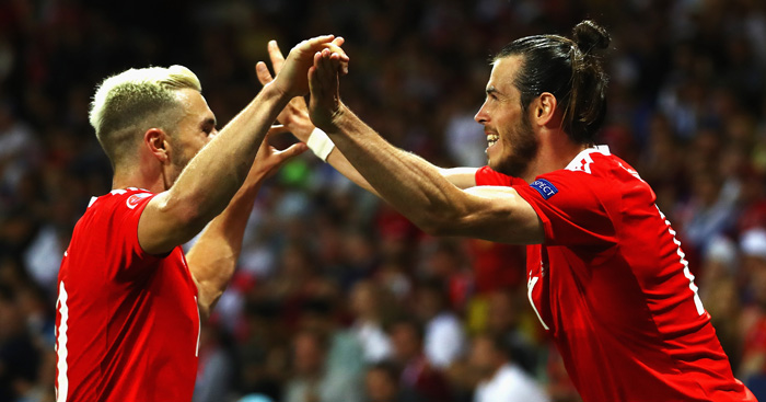 Welsh joy: Bale and Ramsey among scorers