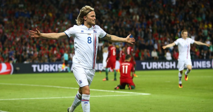 Birkir Bjarnason: Scores Iceland's first major tournament goal