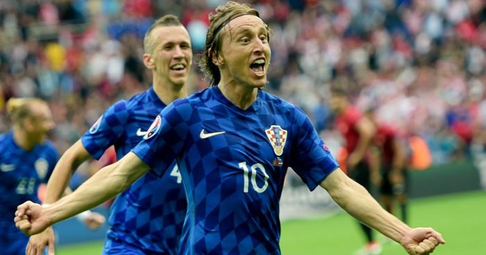 Luka Modric: Celebrates Croatia's winning goal