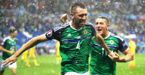 Gareth McAuley: Provides Northern Ireland with first Euros goal
