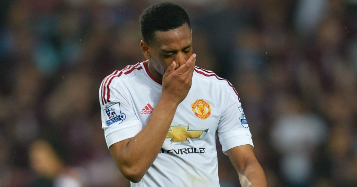 Anthony Martial: Less than happy at shirt change