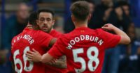 Danny Ings: Celebrates his winner at Prenton Park