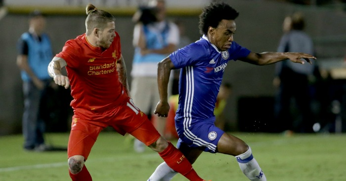 Alberto Moreno: Struggled against Chelsea