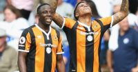 Adama Diomade & Abel Hernandez: Celebrate Hull's opener