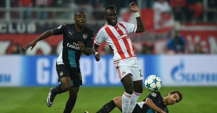 Arthur Masuaku: Defender in action against Arsenal