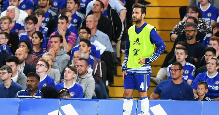 Cesc Fabregas: Midfielder out of favour at Chelsea