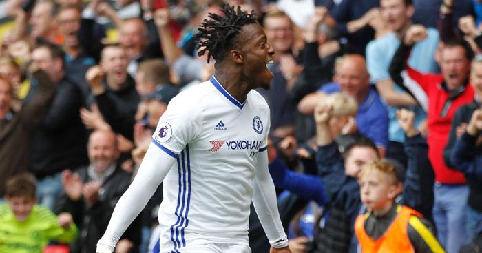 Michy Batshuayi: Celebrates first Chelsea goal