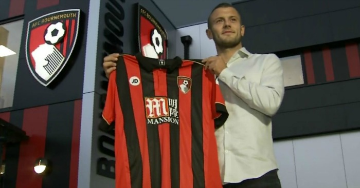 Jack Wilshere: Poses with his new Bournemouth shirt