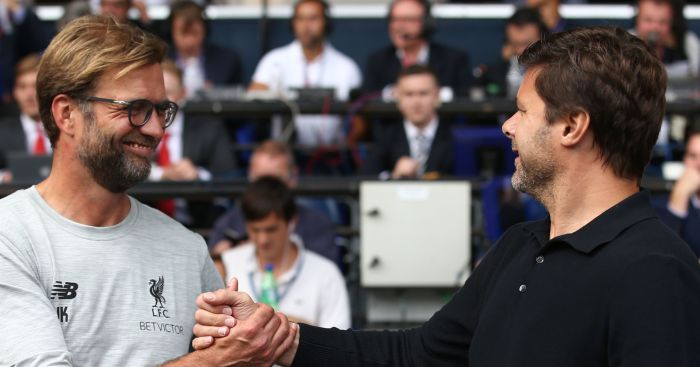 Jurgen Klopp: All smiles with Mauricio Pochettino
