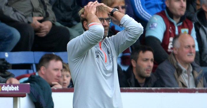 Jurgen Klopp: Saw his side beaten at Burnley