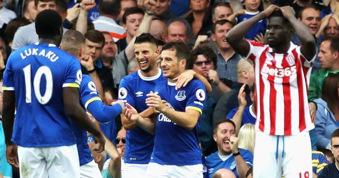 Leighton Baines: Celebrates Everton opener
