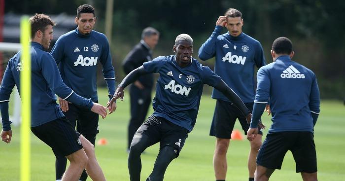 Paul Pogba: Midfielder in Manchester Untied training