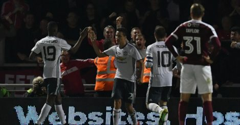 Ander Herrera: Midfielder celebrates second-half strike