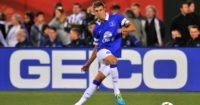 John Stones: Defender in action during Everton days